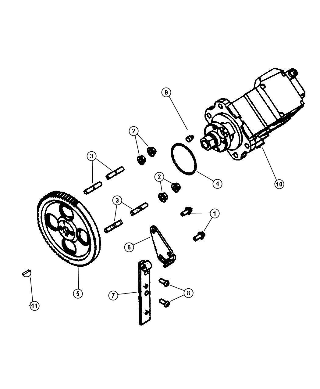 Dodge Ram 3500 Bolt. Hex head. Fuel pump mounting