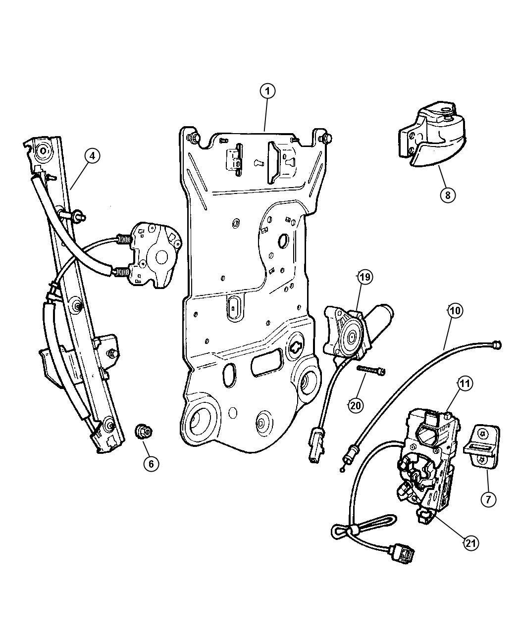 Dodge Intrepid Clip. Outside door handle, retainer. Inner