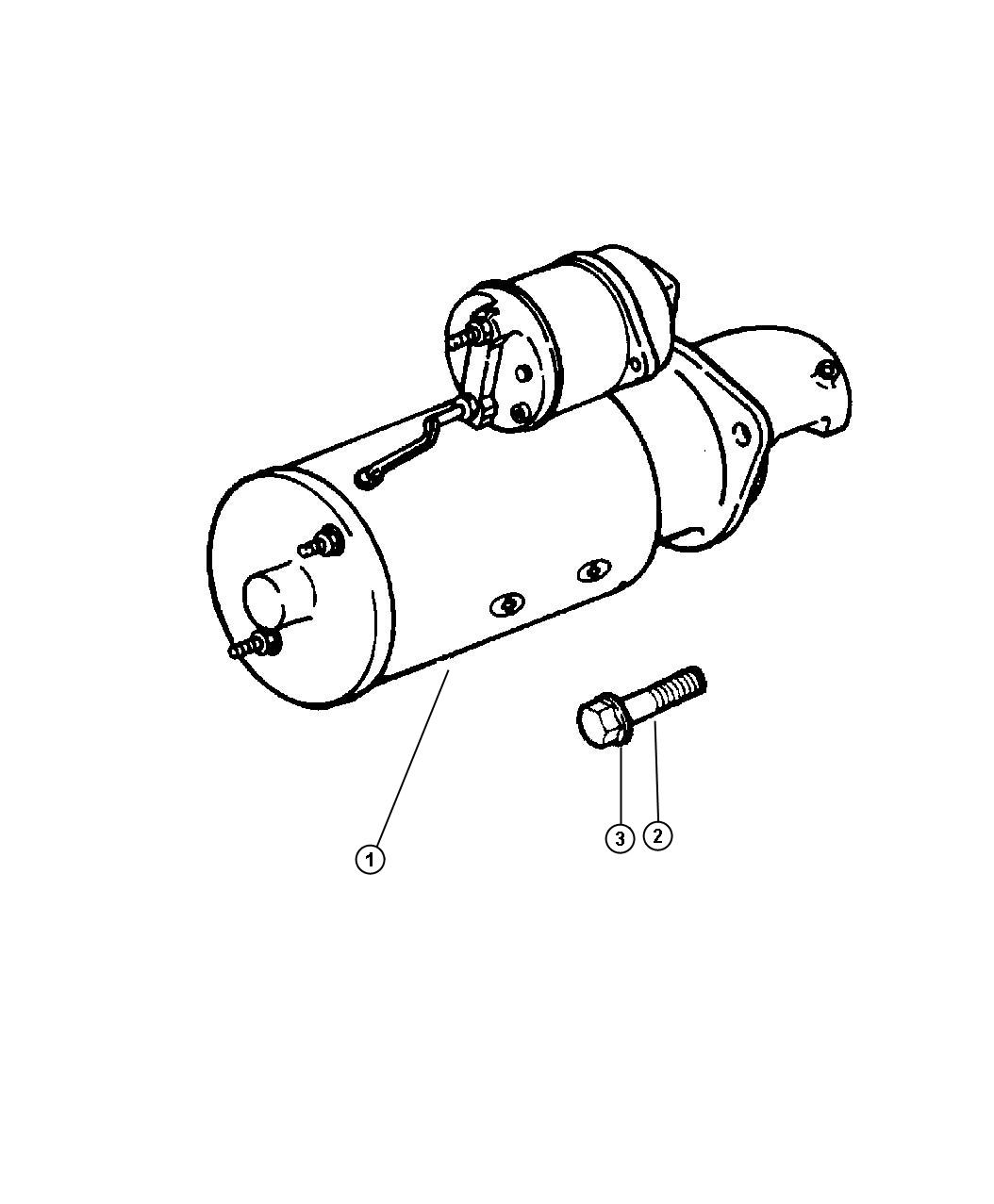 Starter Motor Dodge Ram 1500-2500-3500 1997-2001 Genuine