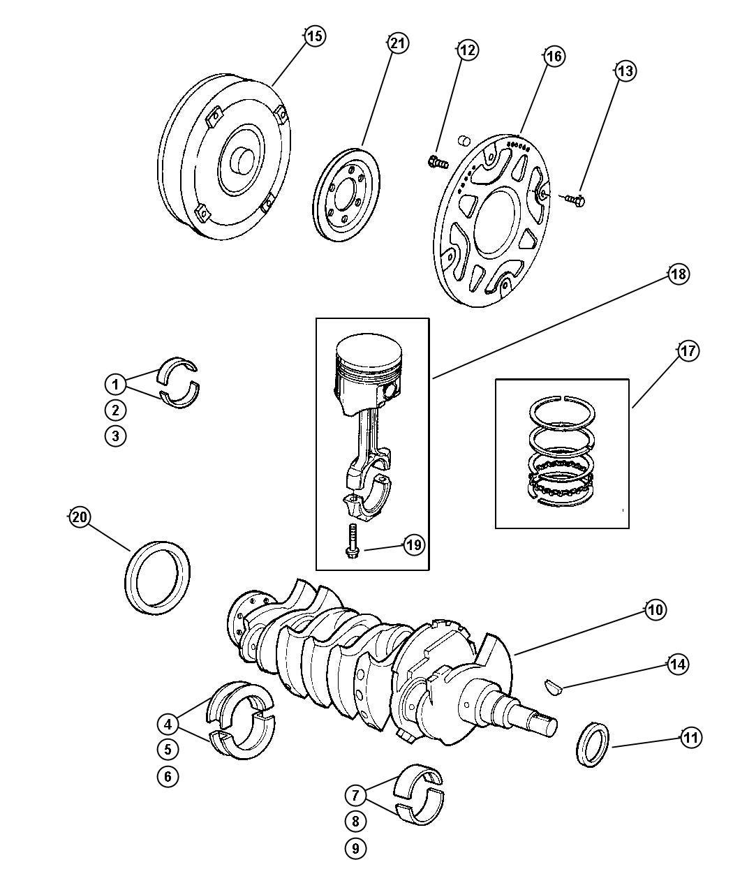 1995 Dodge Neon Seal. Crankshaft oil, front main