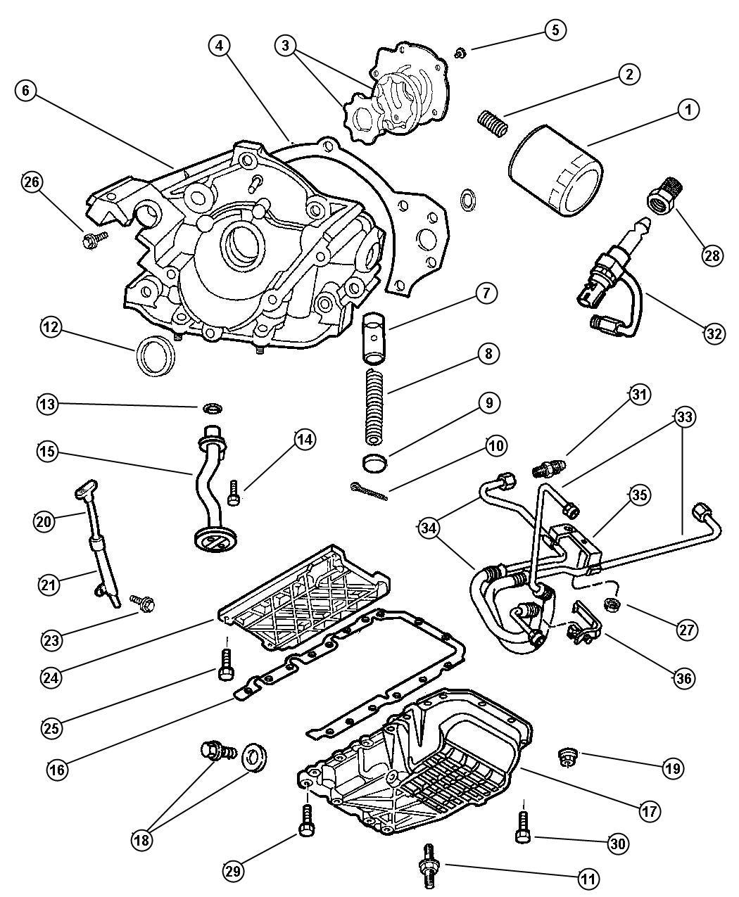 Dodge Intrepid Filter Engine Oil Magneti Marelli