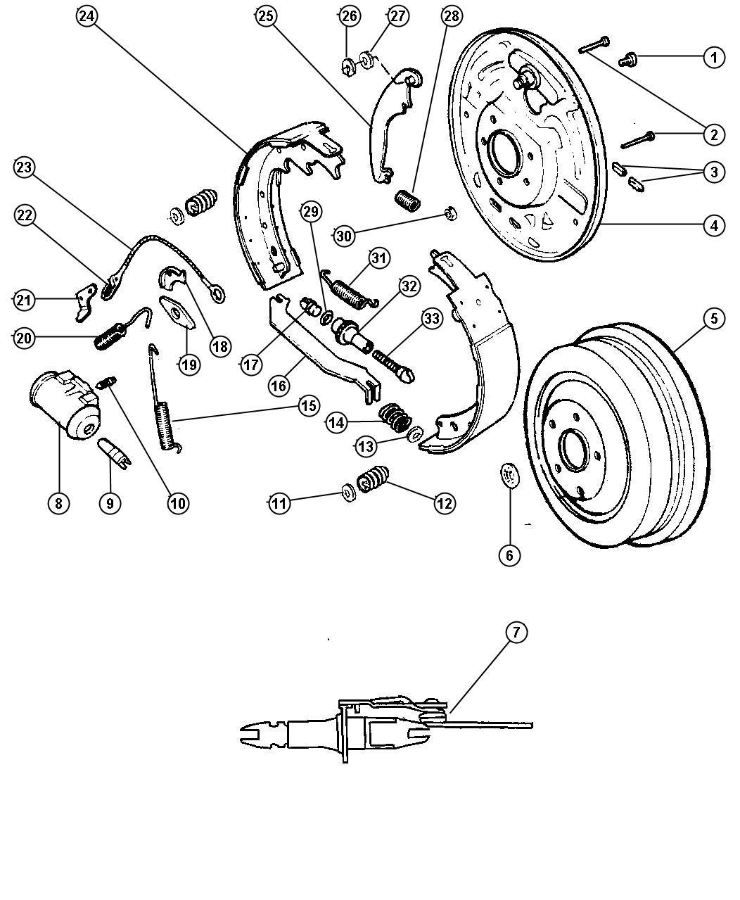 Dodge Ram Spring Right Or Left Parking Brake Strut