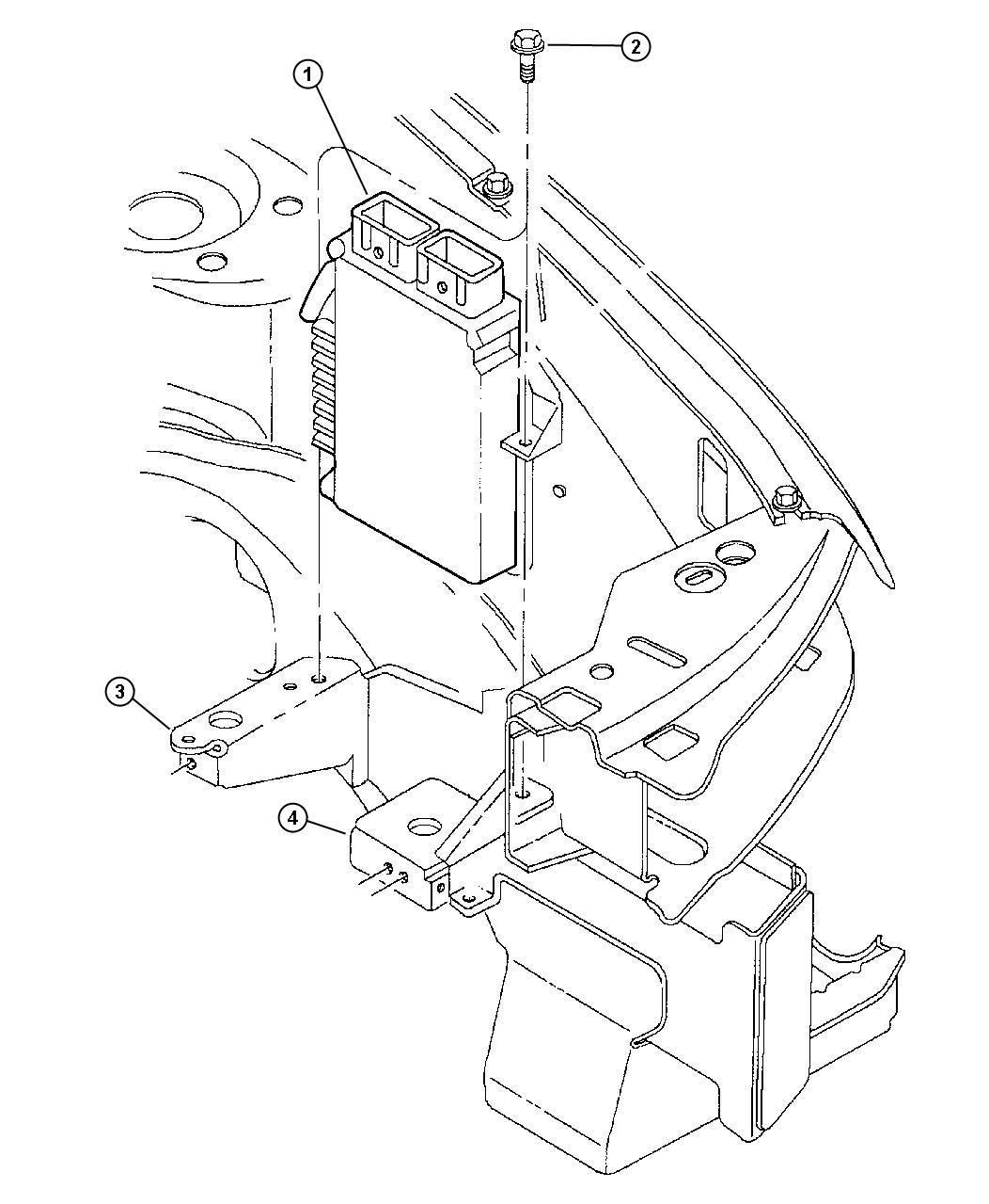 Chrysler Sebring Module Engine Controller Emissionsno
