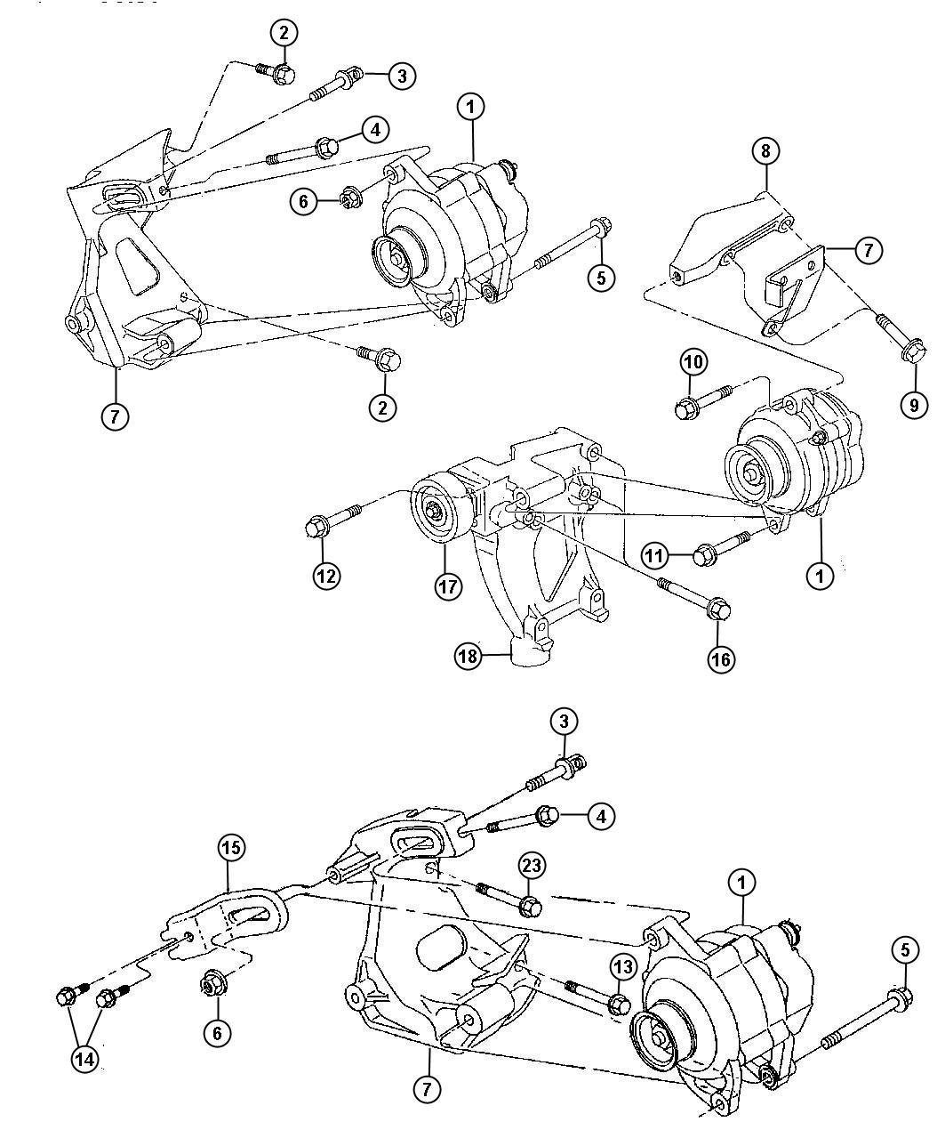 Plymouth Breeze Generator. Engine. [125 amp alternator