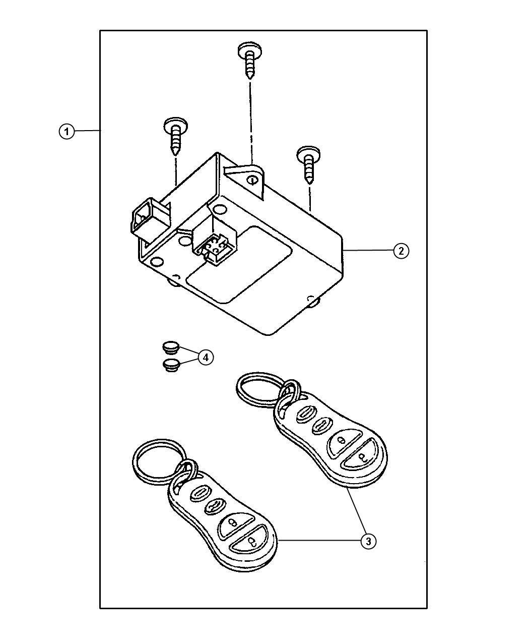 Dodge Grand Caravan Wiring Kit Alarm With Keyless Use