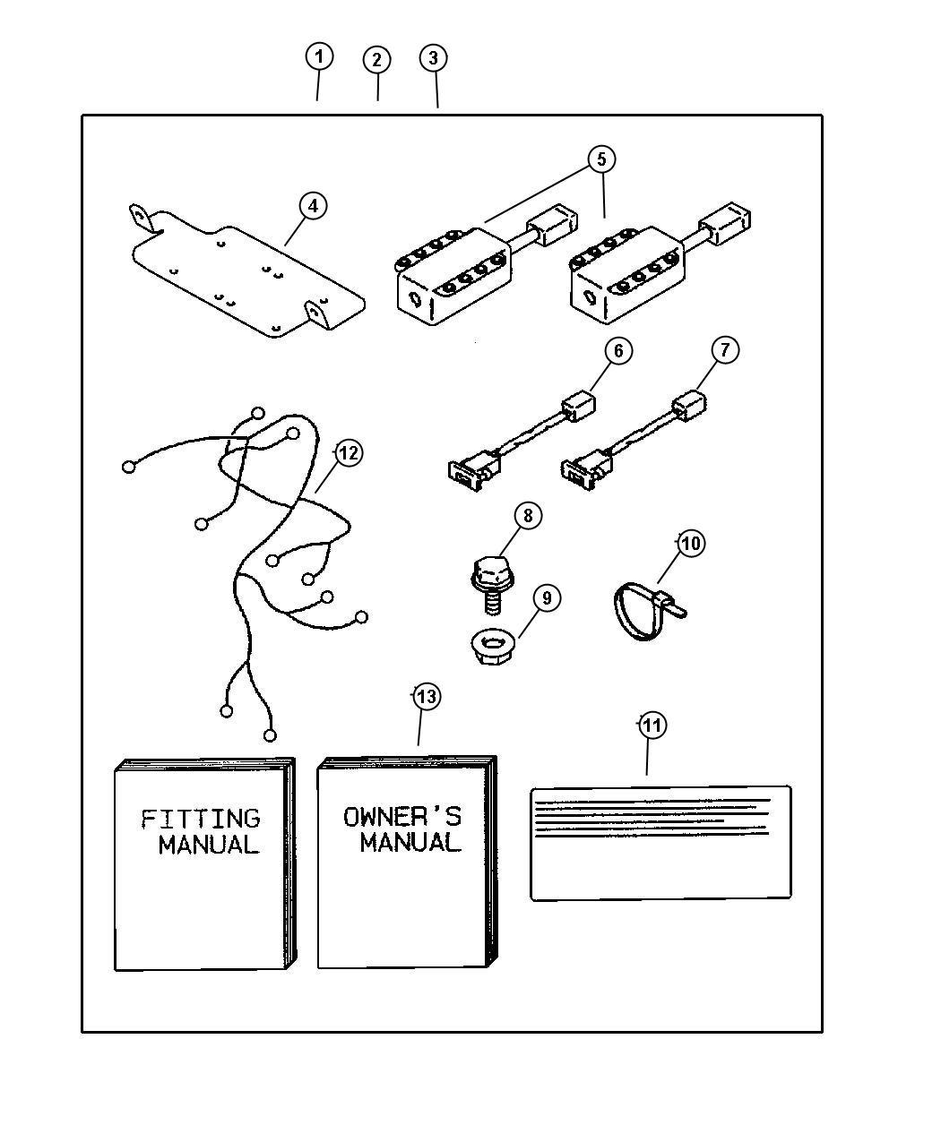 Chrysler Sebring Owners manual. Air bag cutoff switch