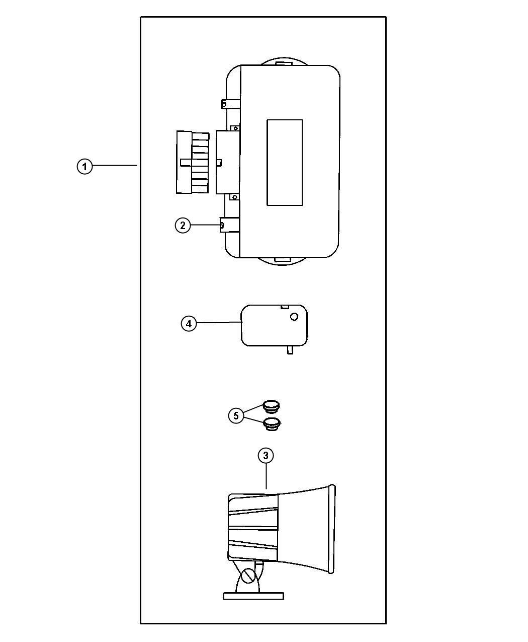 Jeep Wrangler Wiring kit. Alarm without keyless. Evs