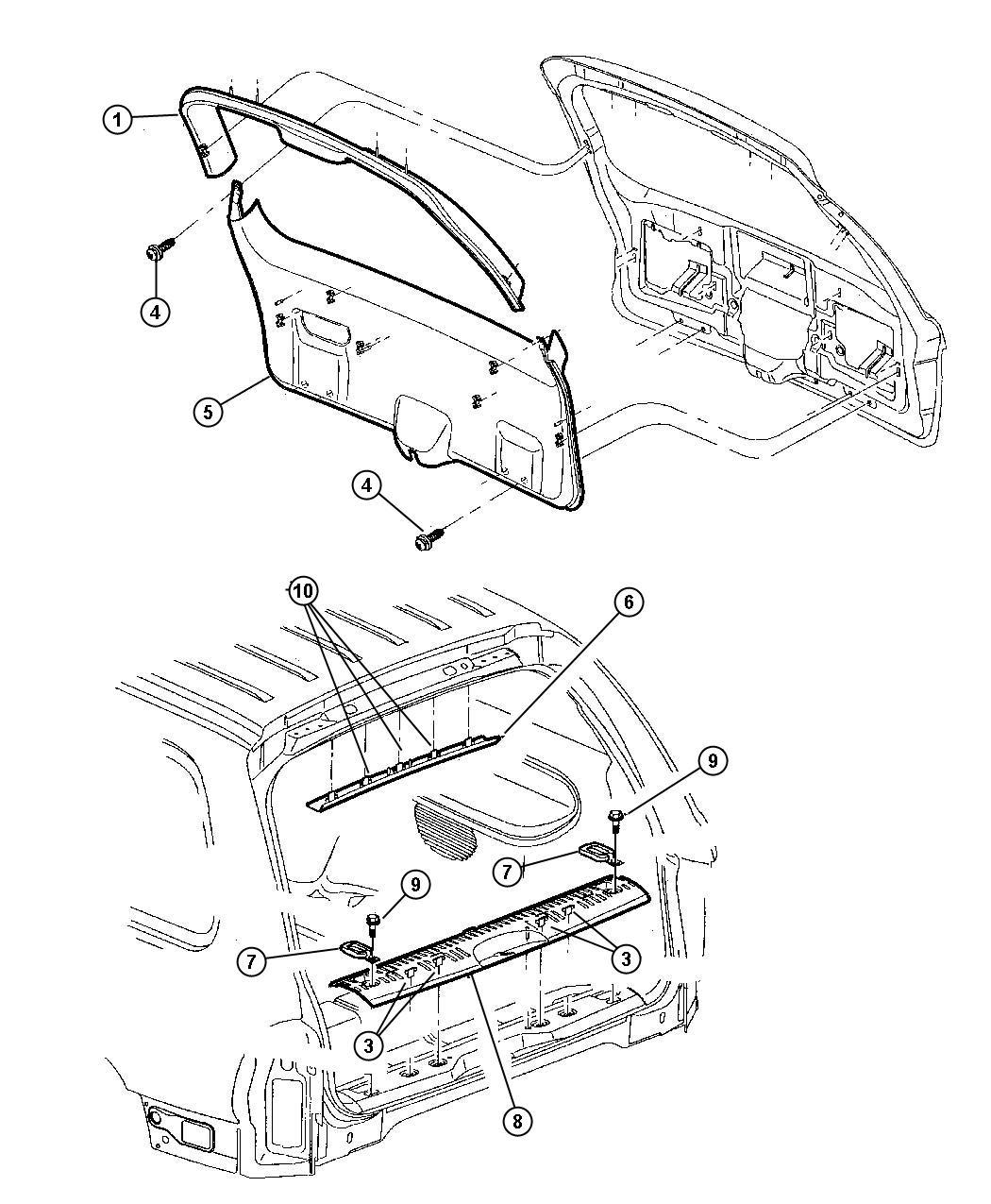 Dodge Durango Plate. Scuff. [l5]. Trim: [all trim codes
