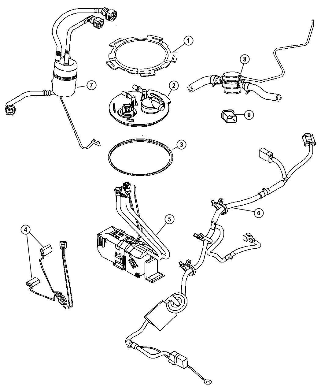 Jeep Liberty Reservoir package. Fuel. [edo or eko] before