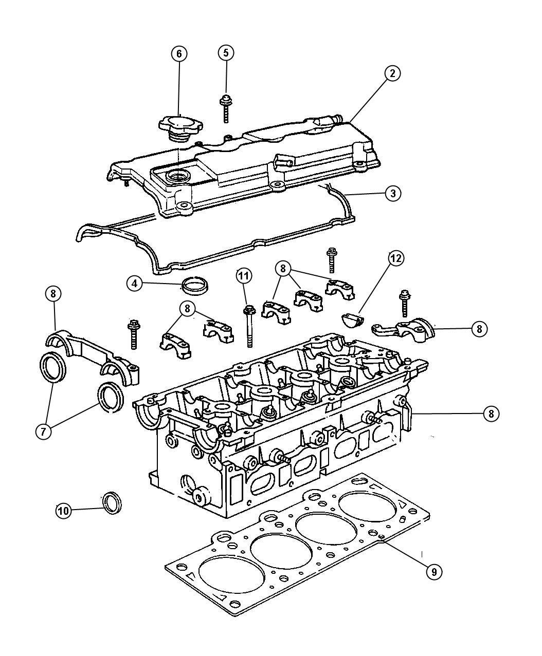 Chrysler Sebring Cover Cylinder Head Iiinab Iiileaded