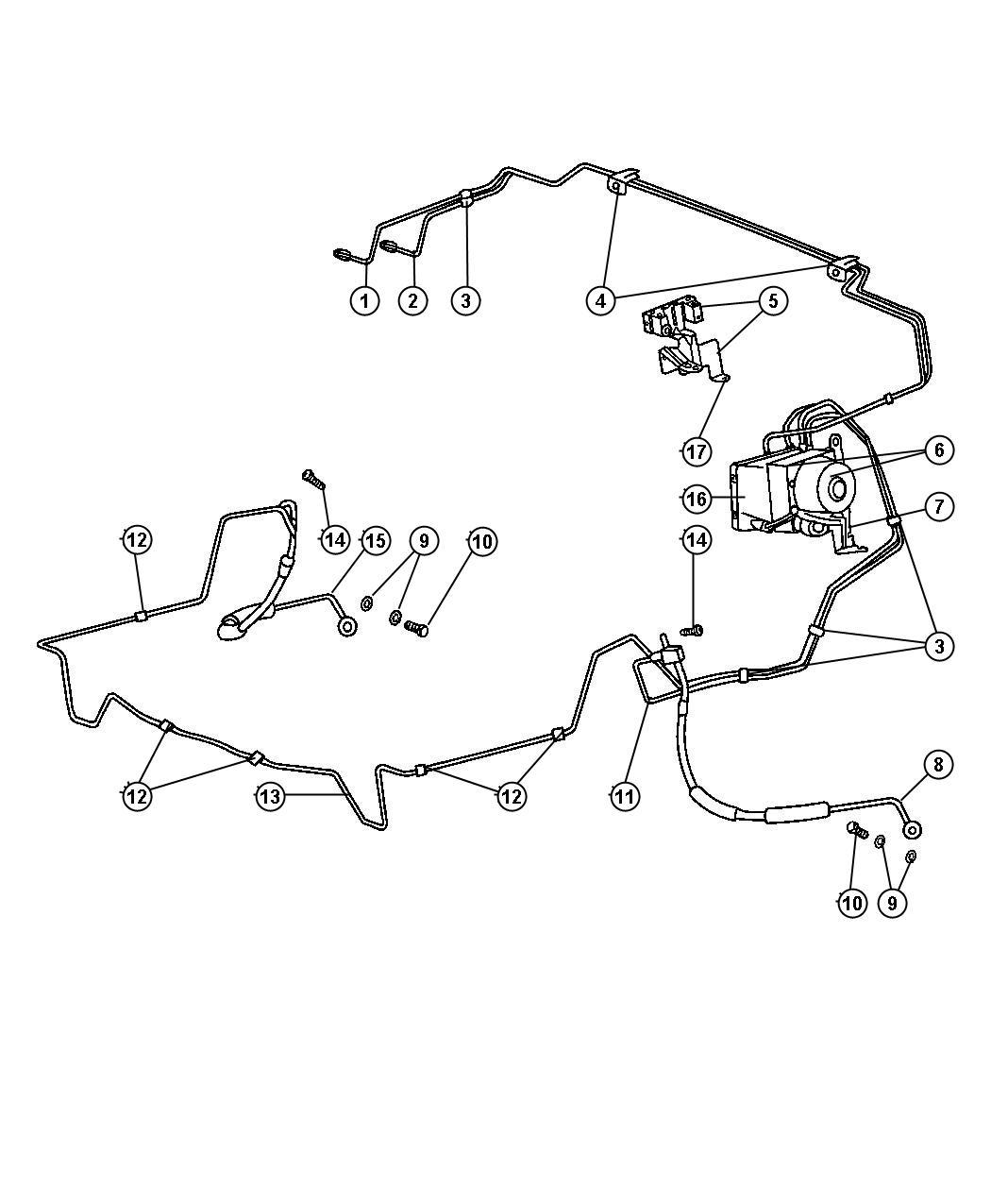 Jeep Liberty Block, valve. Brake line union, proportioning