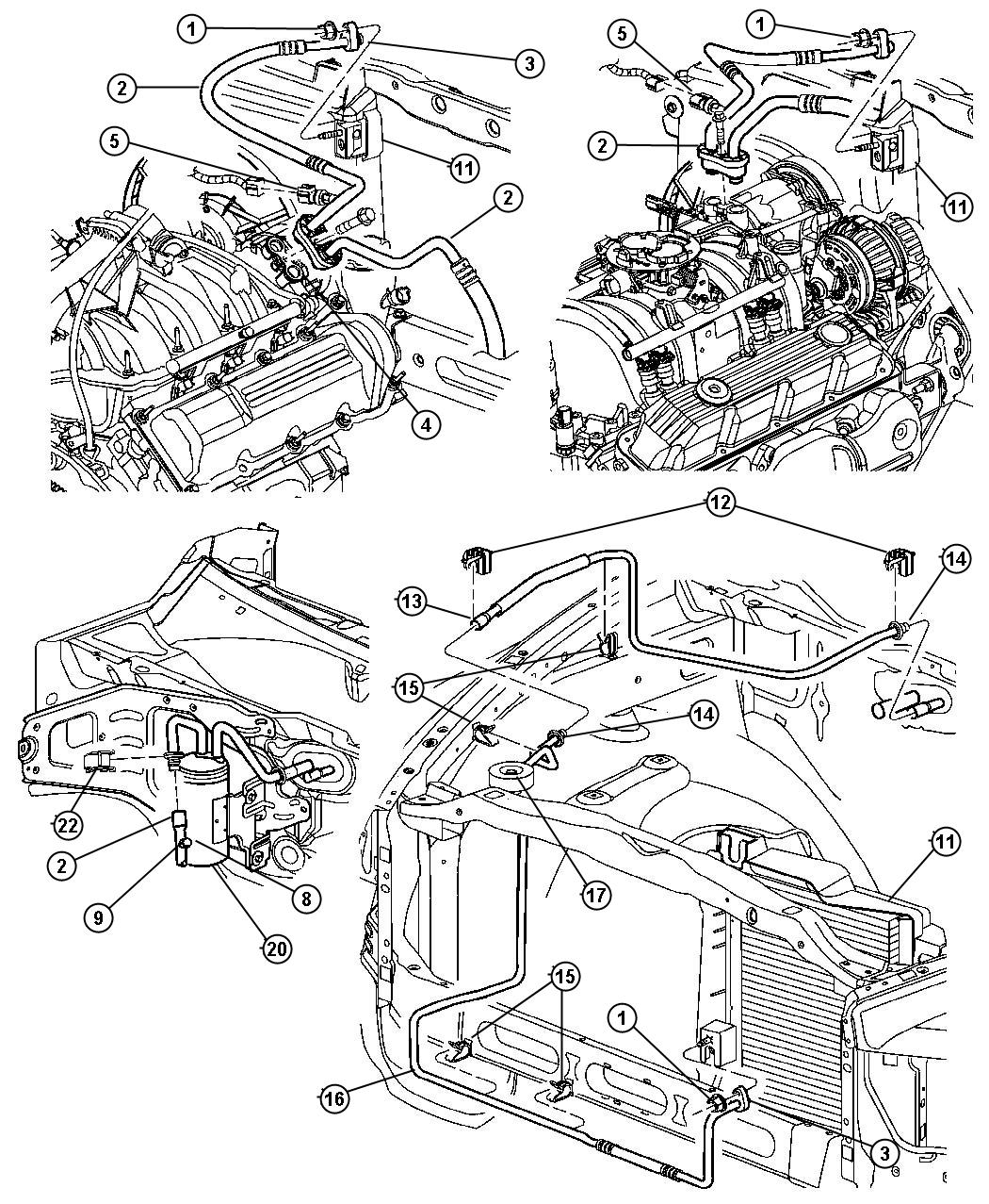 Dodge Ram 1500 Line. Used for: a/c suction and discharge