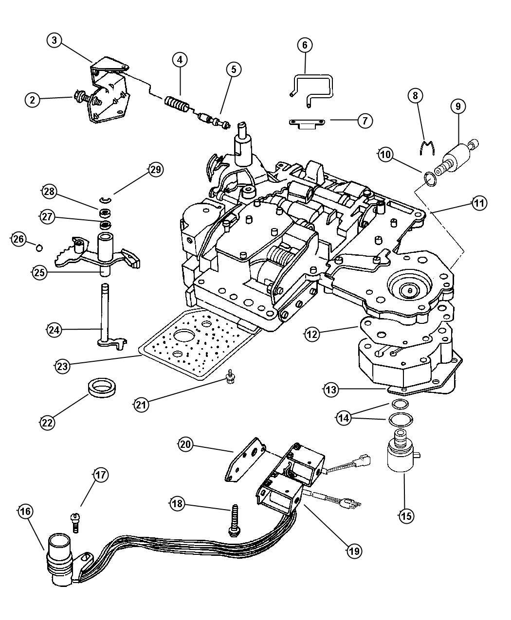 Dodge Ram 3500 Solenoid. Transmission overdrive