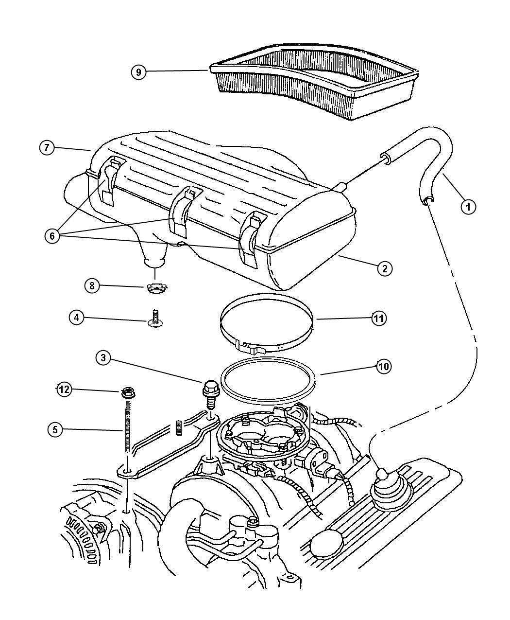 Dodge Ram Body Air Cleaner Nax Draft Nab
