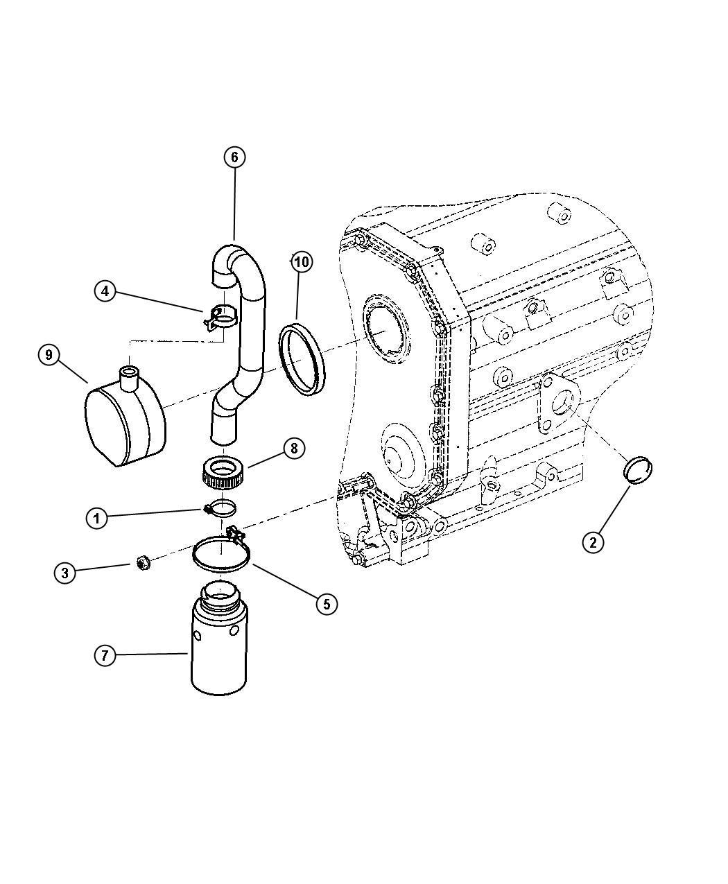 Dodge Ram Gasket Oil Filler Connector