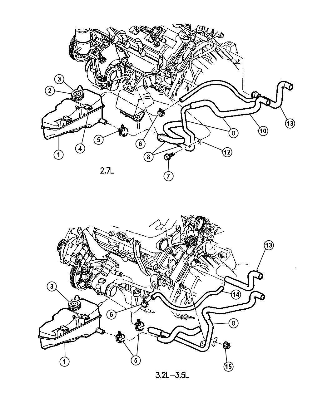 2001 Dodge Intrepid Cooling System Diagram