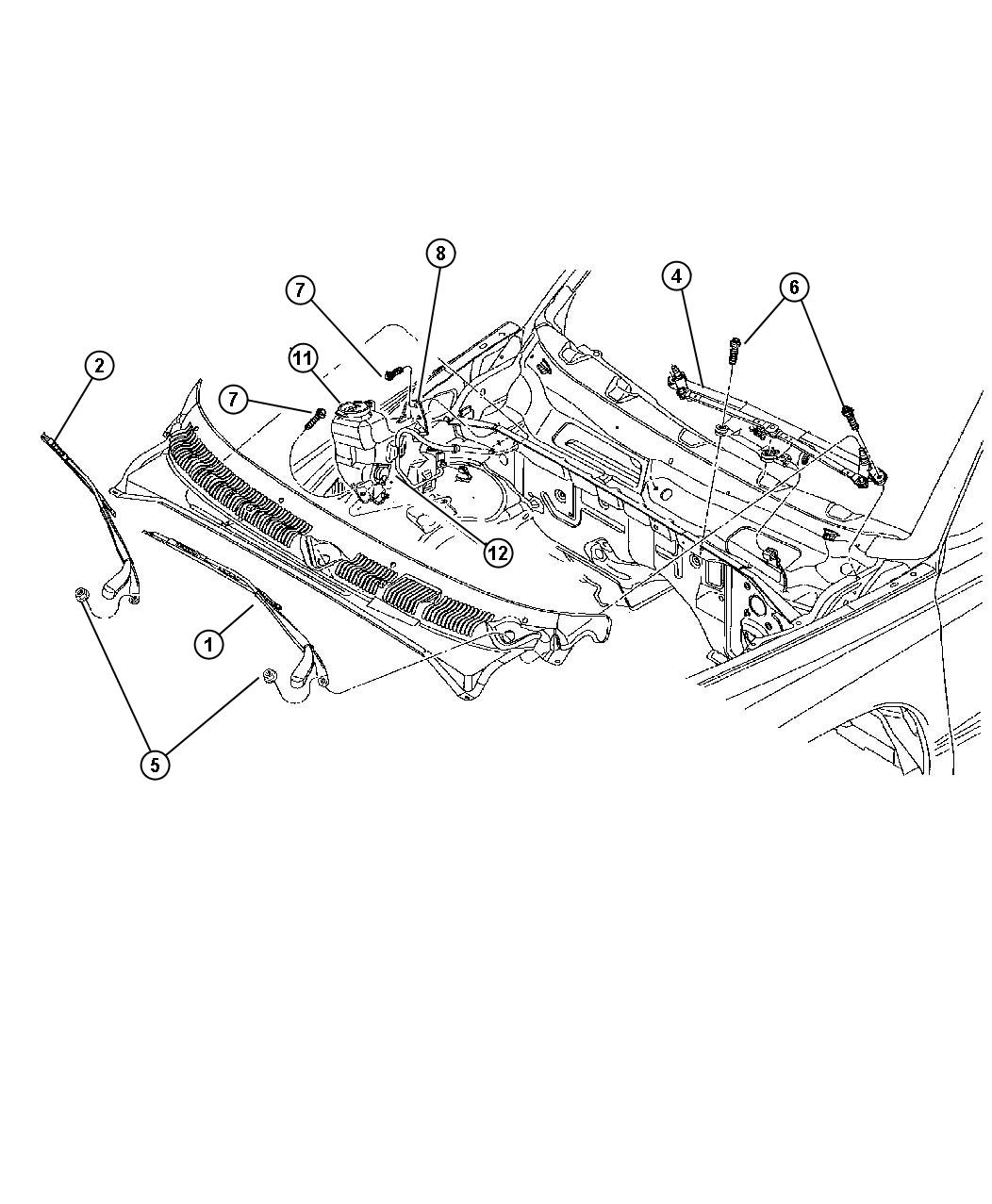 Dodge Dakota Gasket Grommet Reservoir Sensor Washer