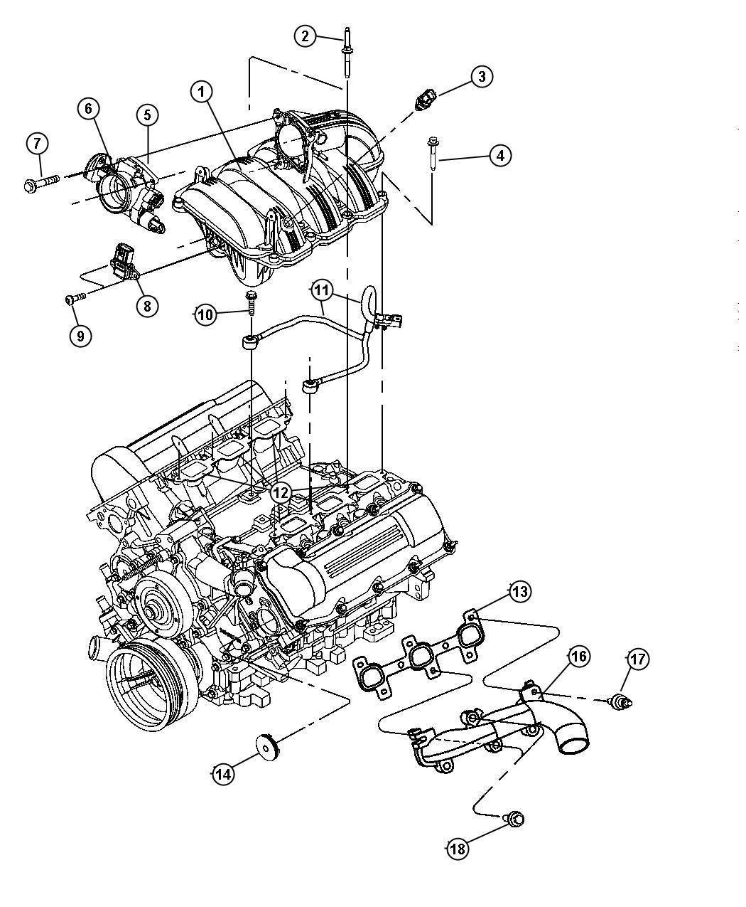 Dodge Ram 1500 Sensor. Coolant temperature. 2.5l & 4.0l
