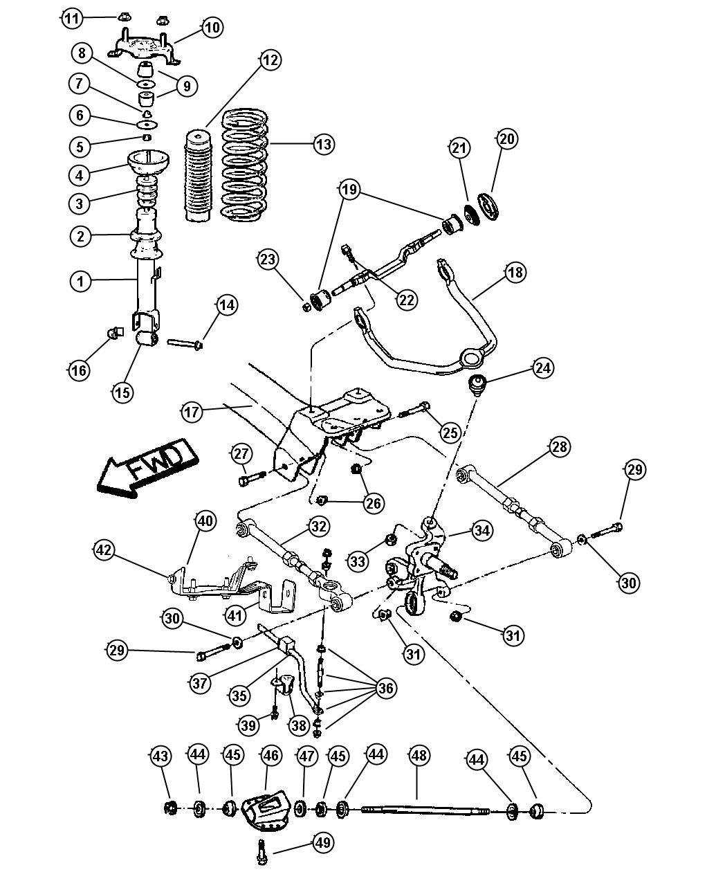 2004 Dodge Neon Parts Diagram Rear Suspension. Dodge. Auto