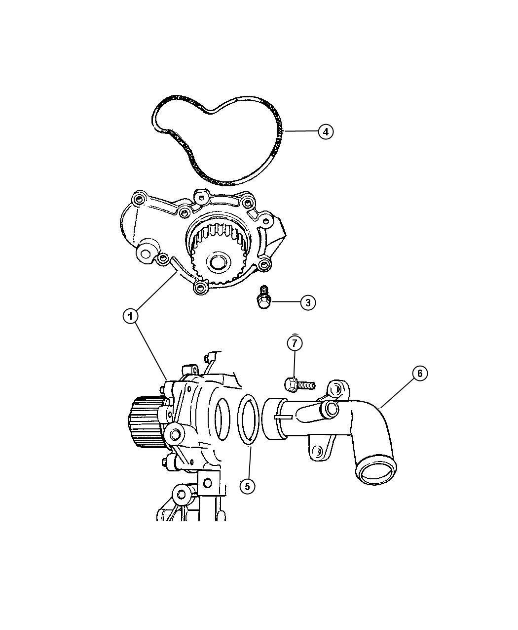 Jeep Wrangler Pump Water 2 0l I4 Dohc 16v Smpi Engine