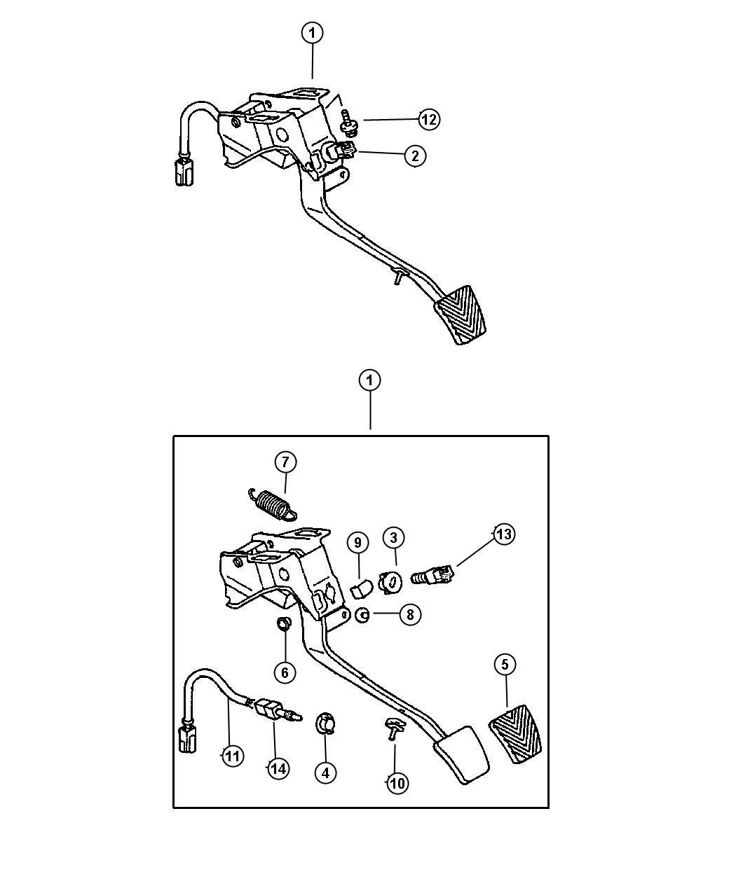 Dodge Stratus Switch Clutch Starter Interlock 4 Prong