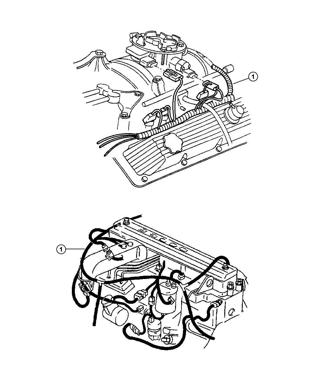 Dodge Ram 1500 Wiring. Engine. California emission