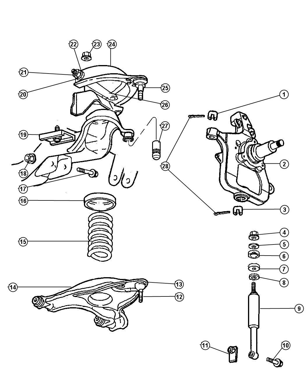 Dodge Ram 2500 Shock absorber package. Suspension. Front