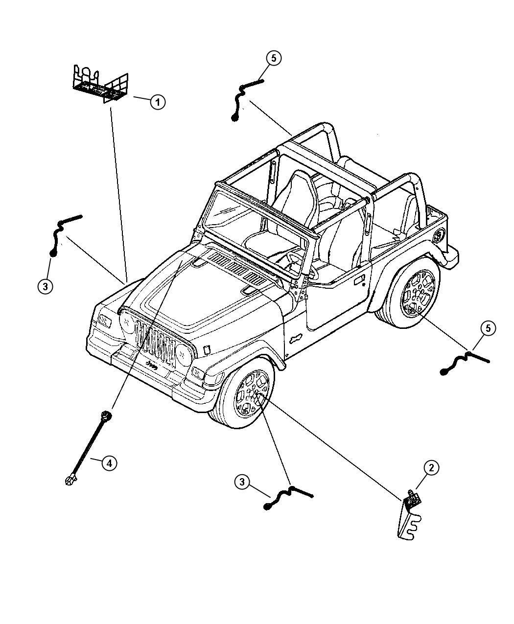 Jeep Wrangler Bracket. Abs sensor. Mounting. To left rear
