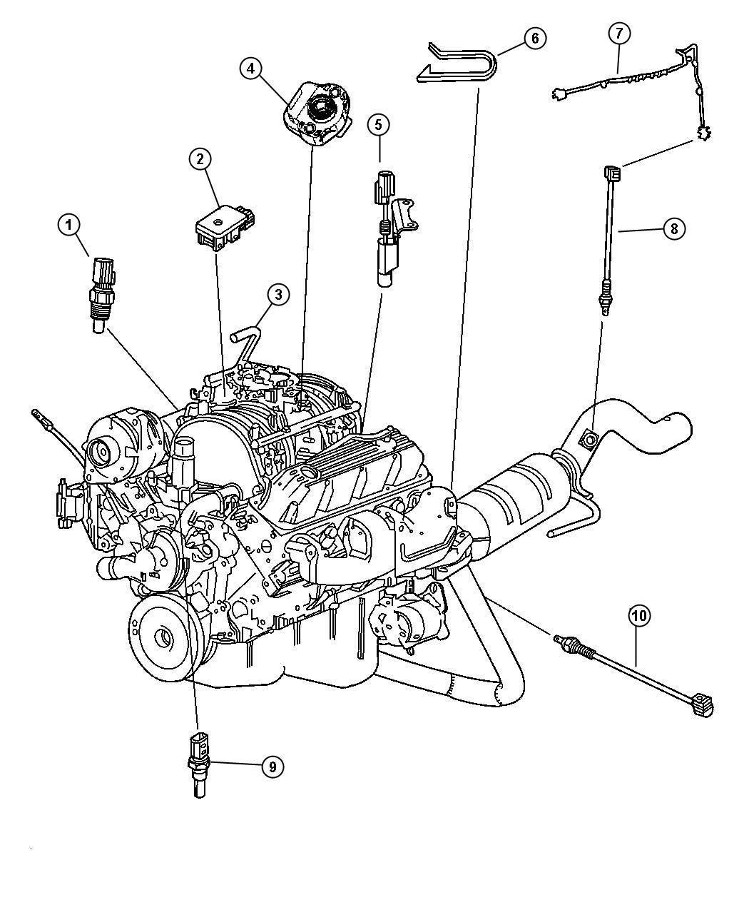 Dodge Ram 2500 Sensor. Crankshaft position. Frontouter
