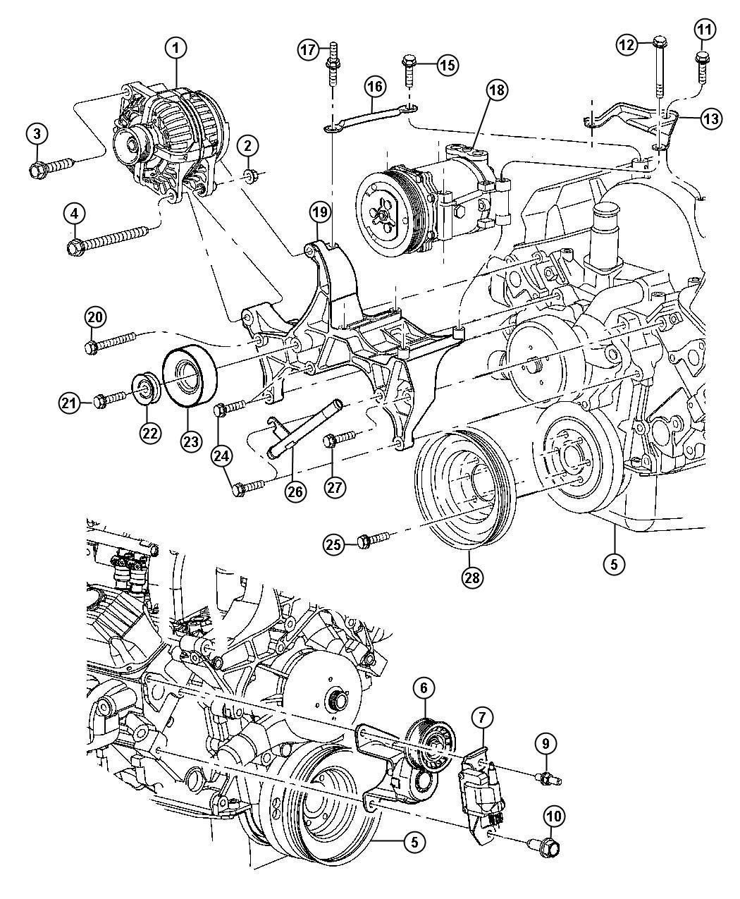 Dodge Dakota Pulley Idler Mountingcompressor