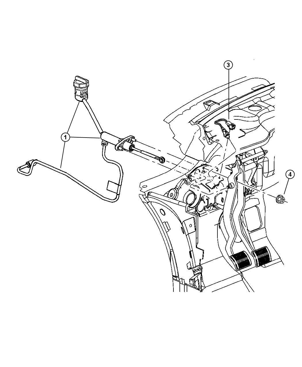 Chrysler Sebring Switch. Clutch starter interlock. Starter