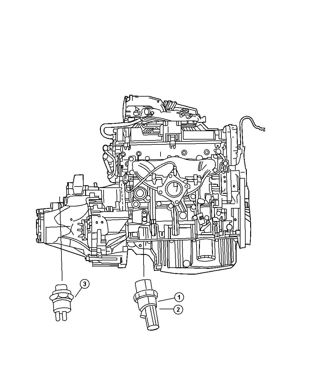 2005 Dodge Sending unit, switch. Oil pressure. Drivetrain