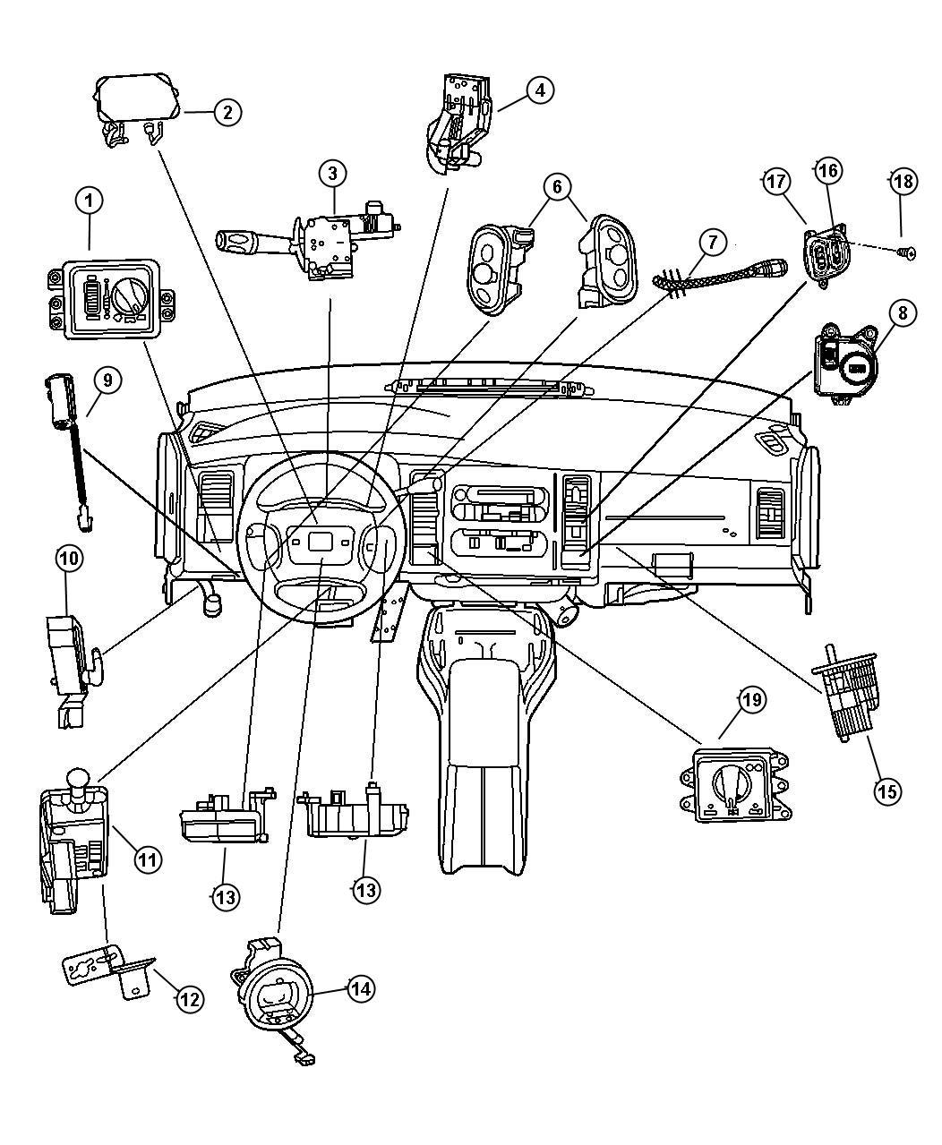 Dodge Avenger Switch. Right. Radio control, remote radio