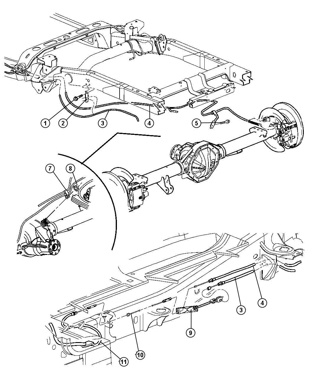 Dodge Ram Tensioner Parking Brake Cable