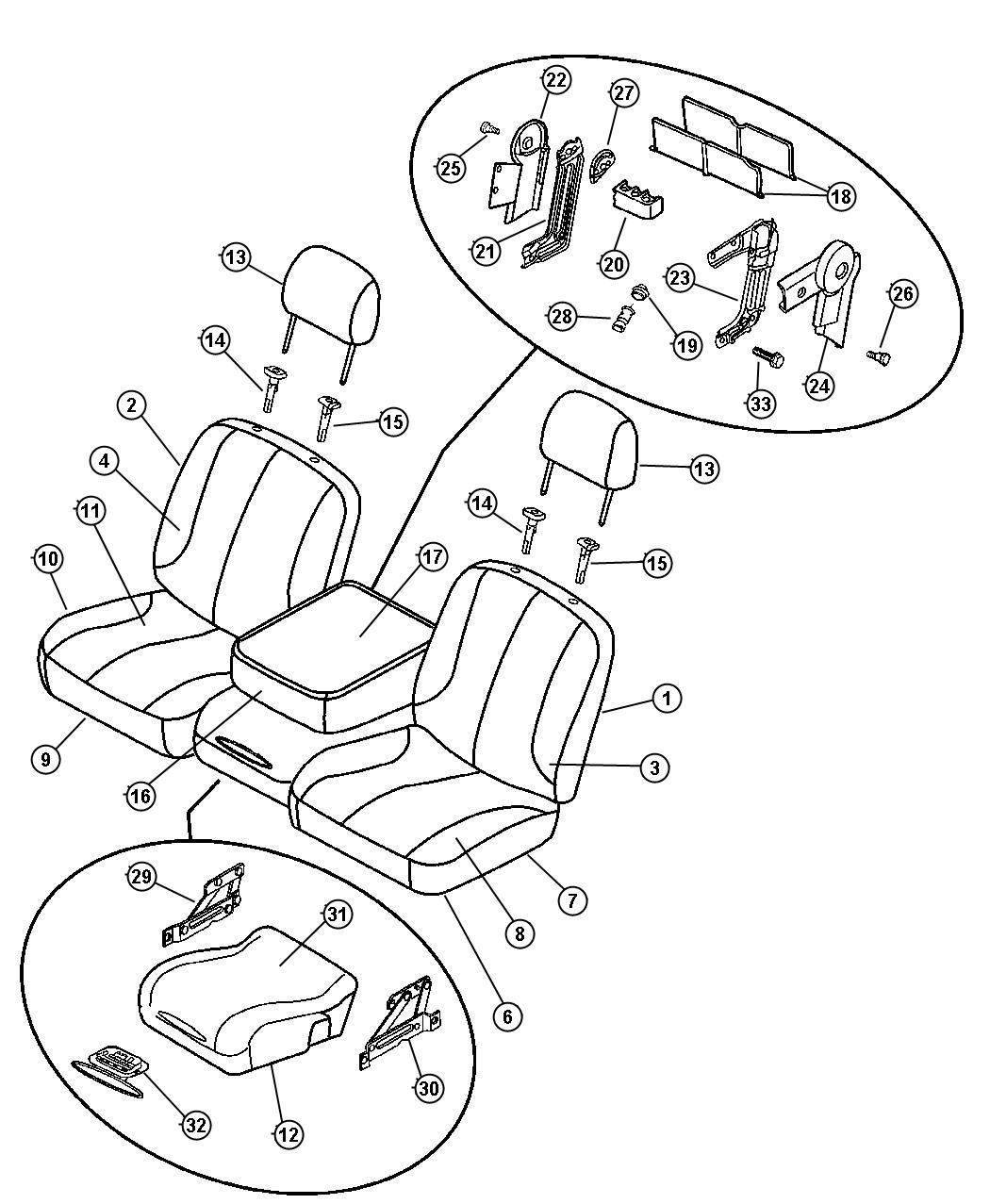 Dodge Ram Pad Front Seat Cushion Trim Seat
