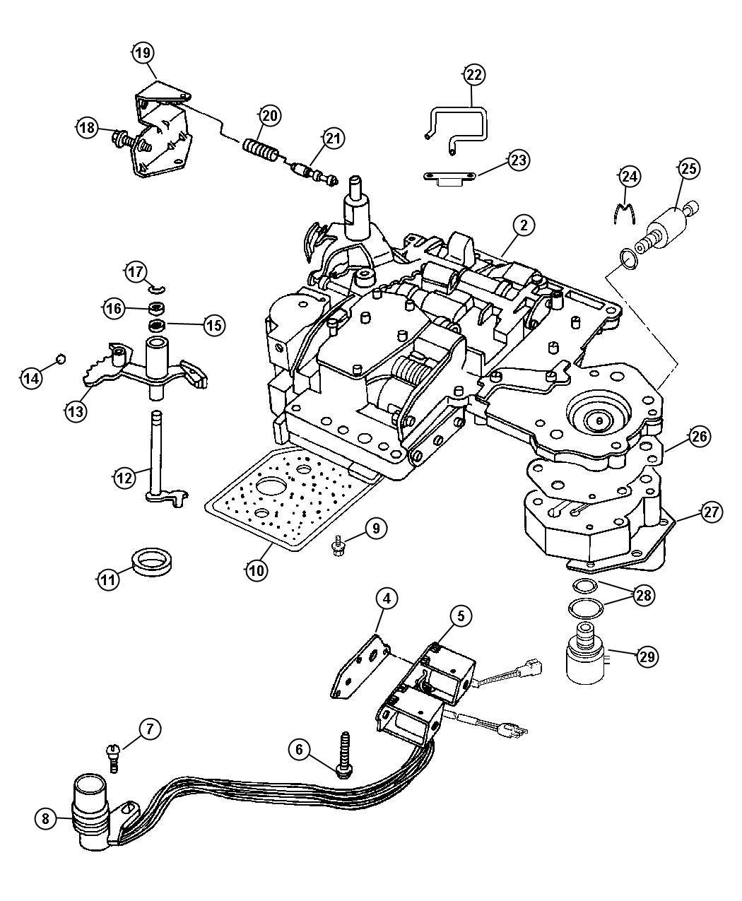 Dodge Ram 1500 Solenoid. Transmission overdrive
