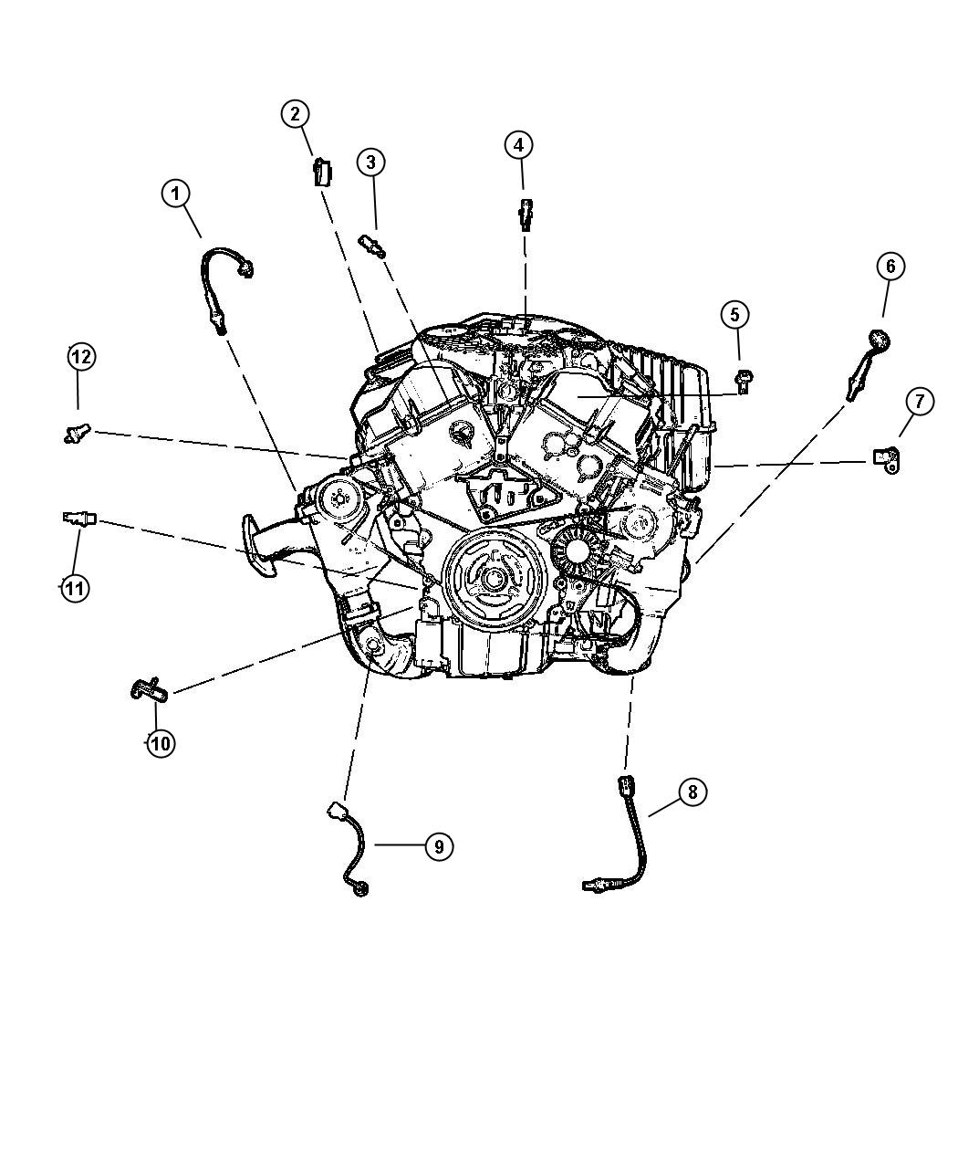Dodge Intrepid Sensor Oxygen Before Catalyst