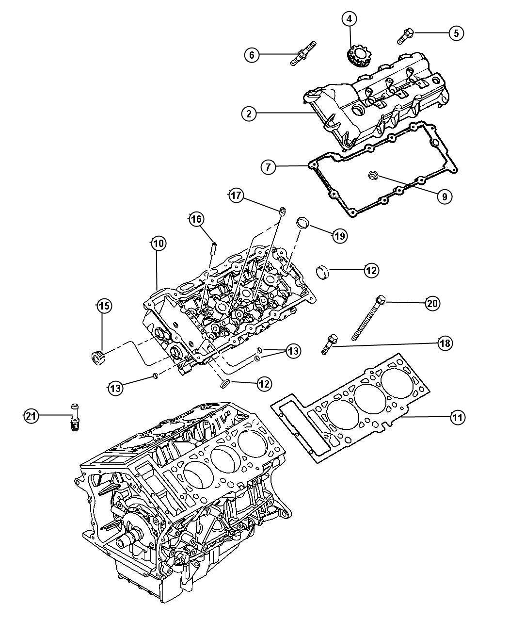 Dodge Intrepid Gasket package. Engine upper