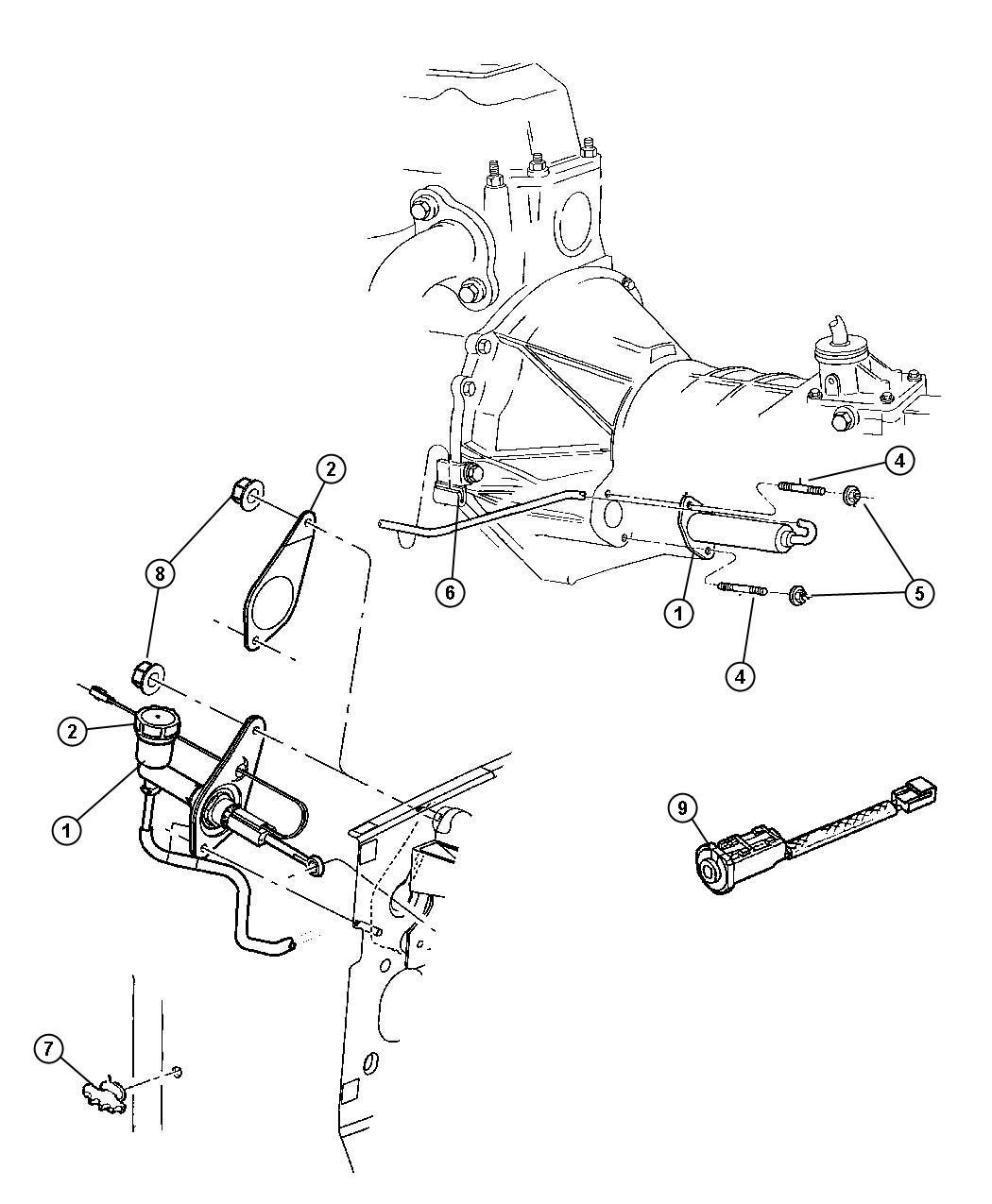 Jeep Liberty Hydraulic control. Clutch actuator