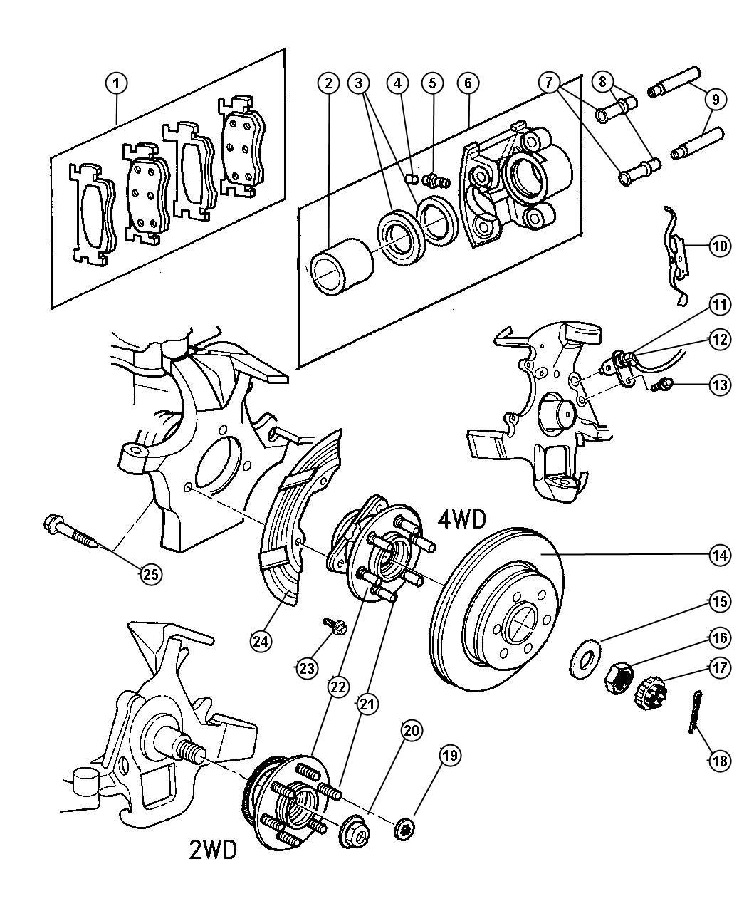 Dodge Durango Pad Kit Front Disc Brake Mopar V Line