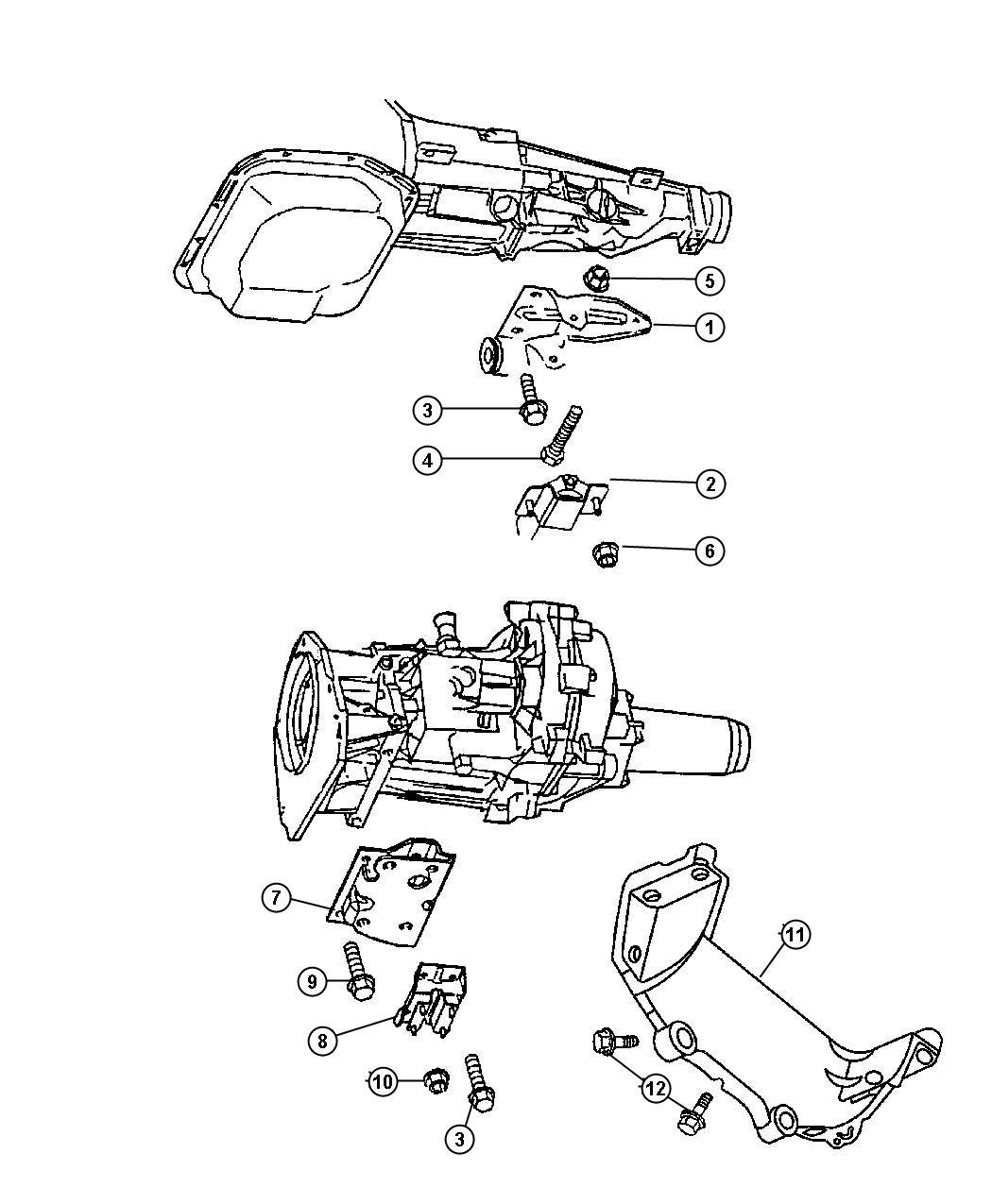 Dodge Durango Engine Mounting Rear 4 7l Eng