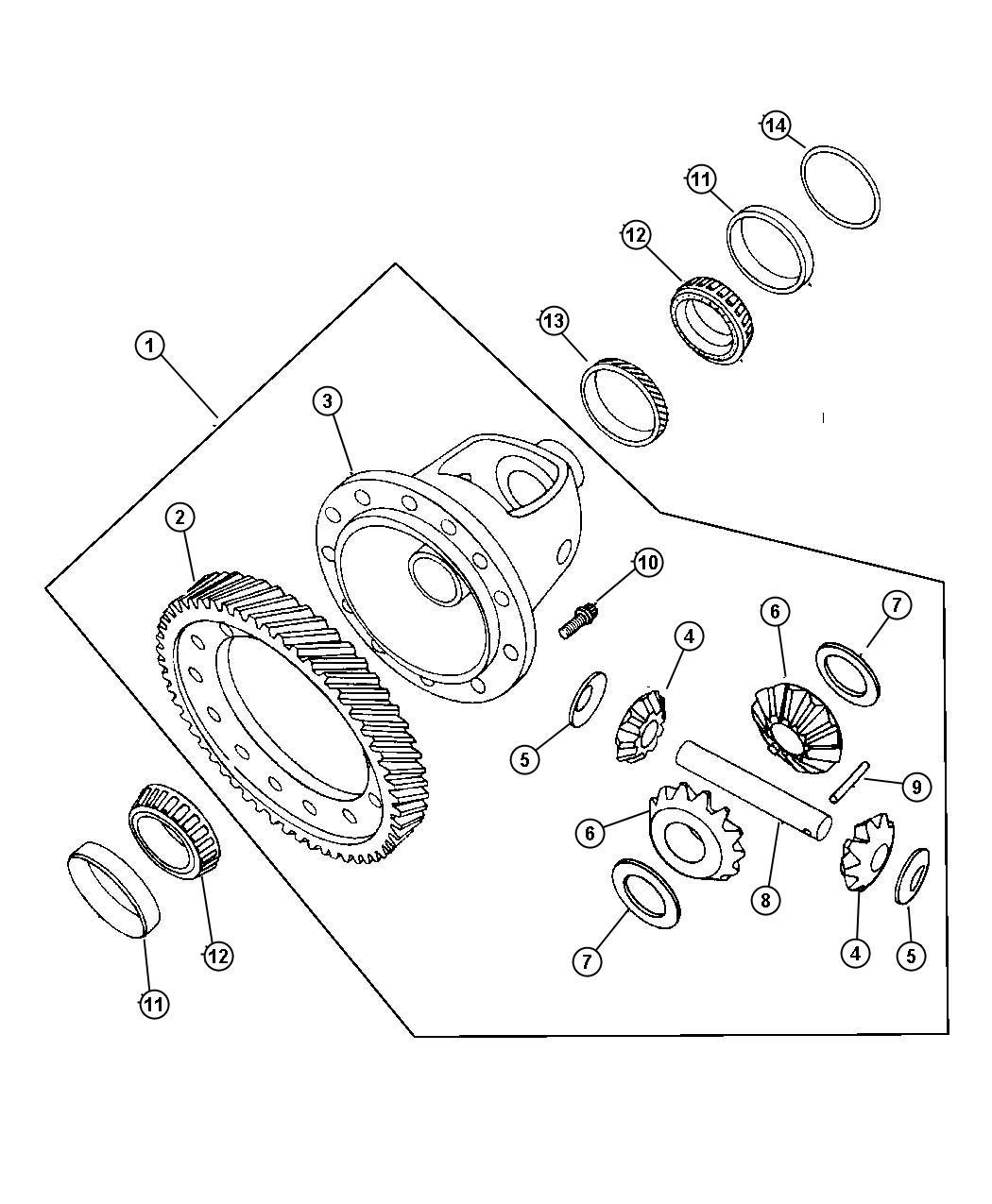 Chrysler Pt Cruiser Gear. Differential ring. Diferential