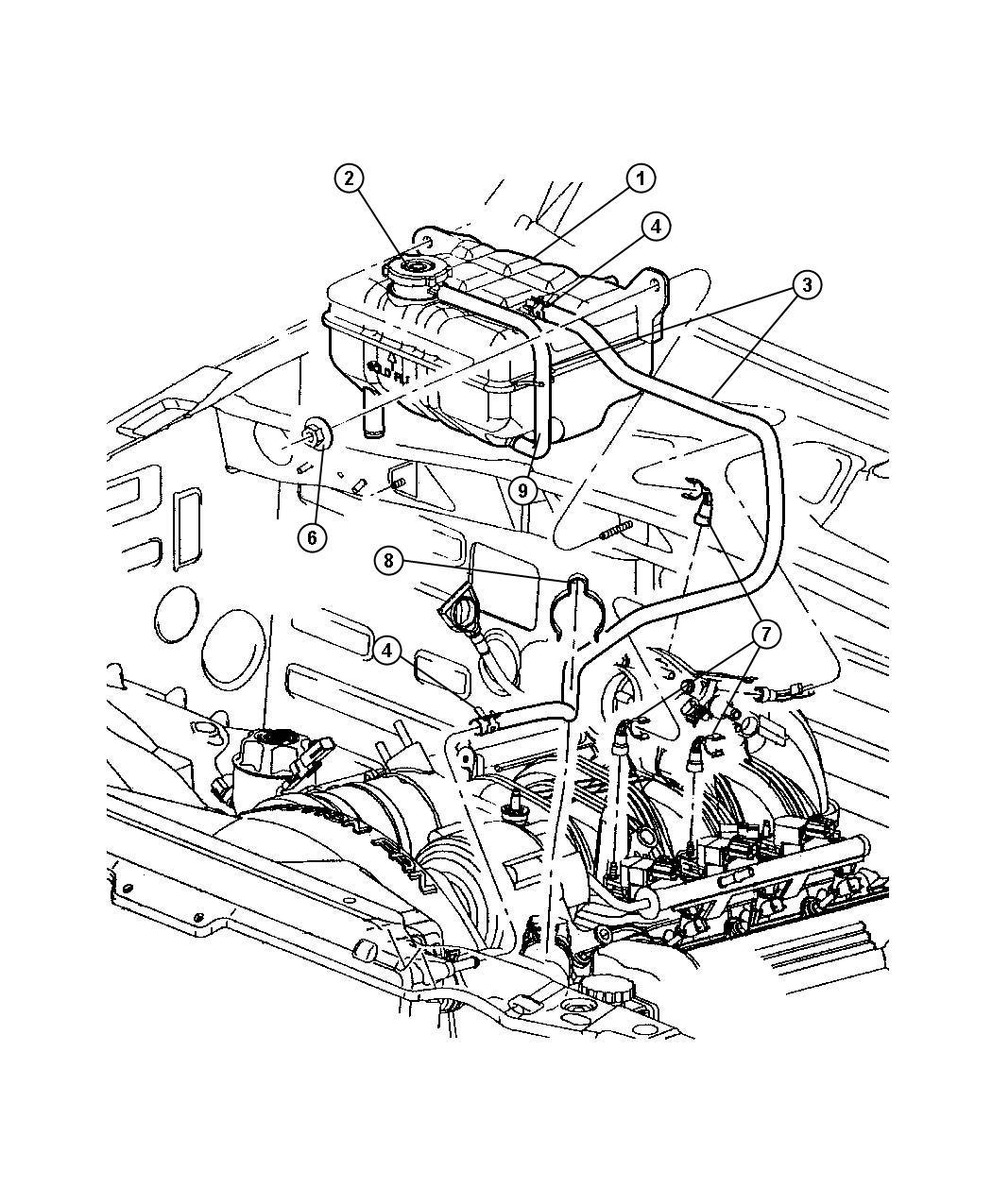 Chrysler Pt Cruiser Clamp Hose Hose To Radiator Oil