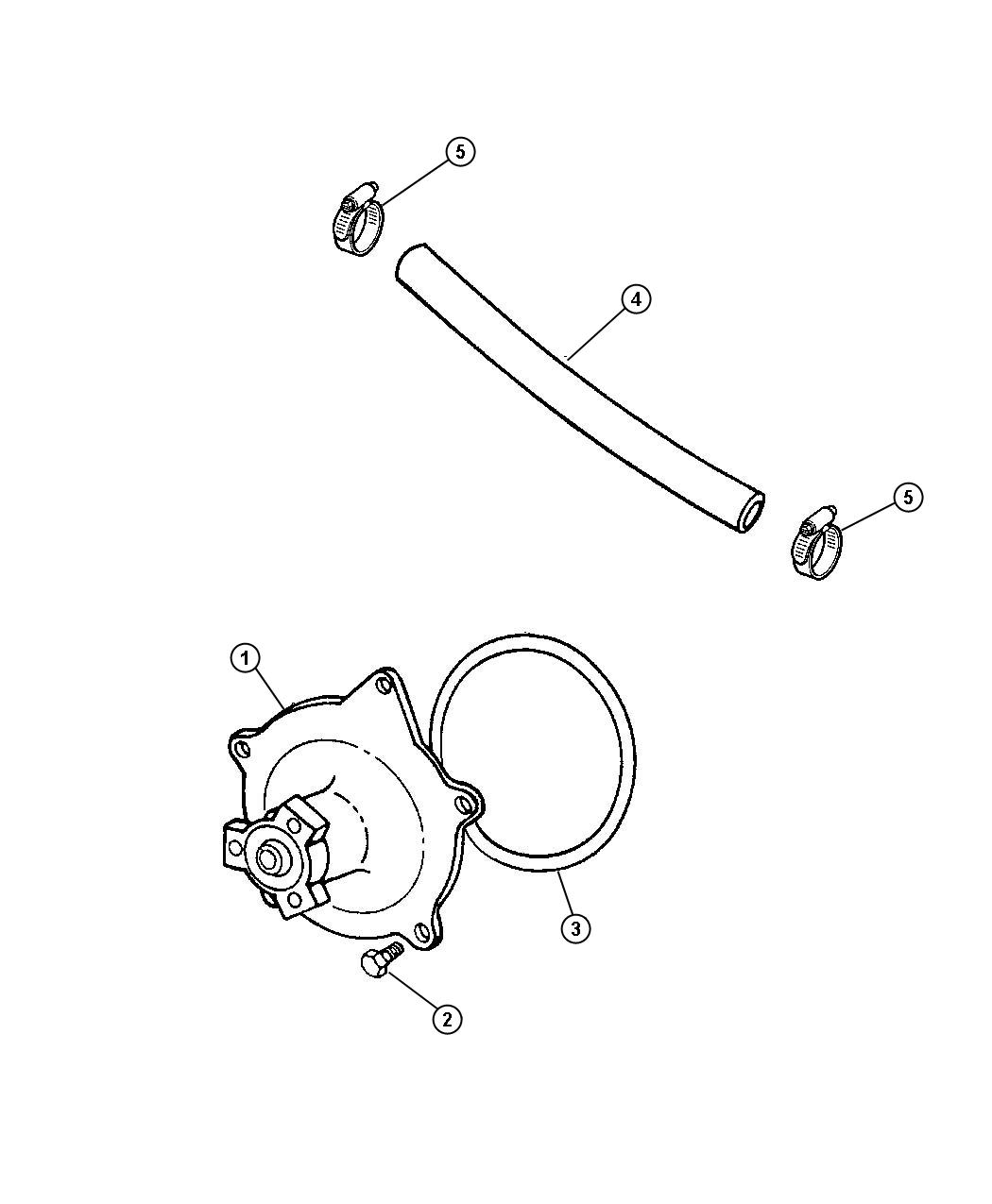Chrysler Pacifica Limited 4 0l V6 Gasket Seal Water