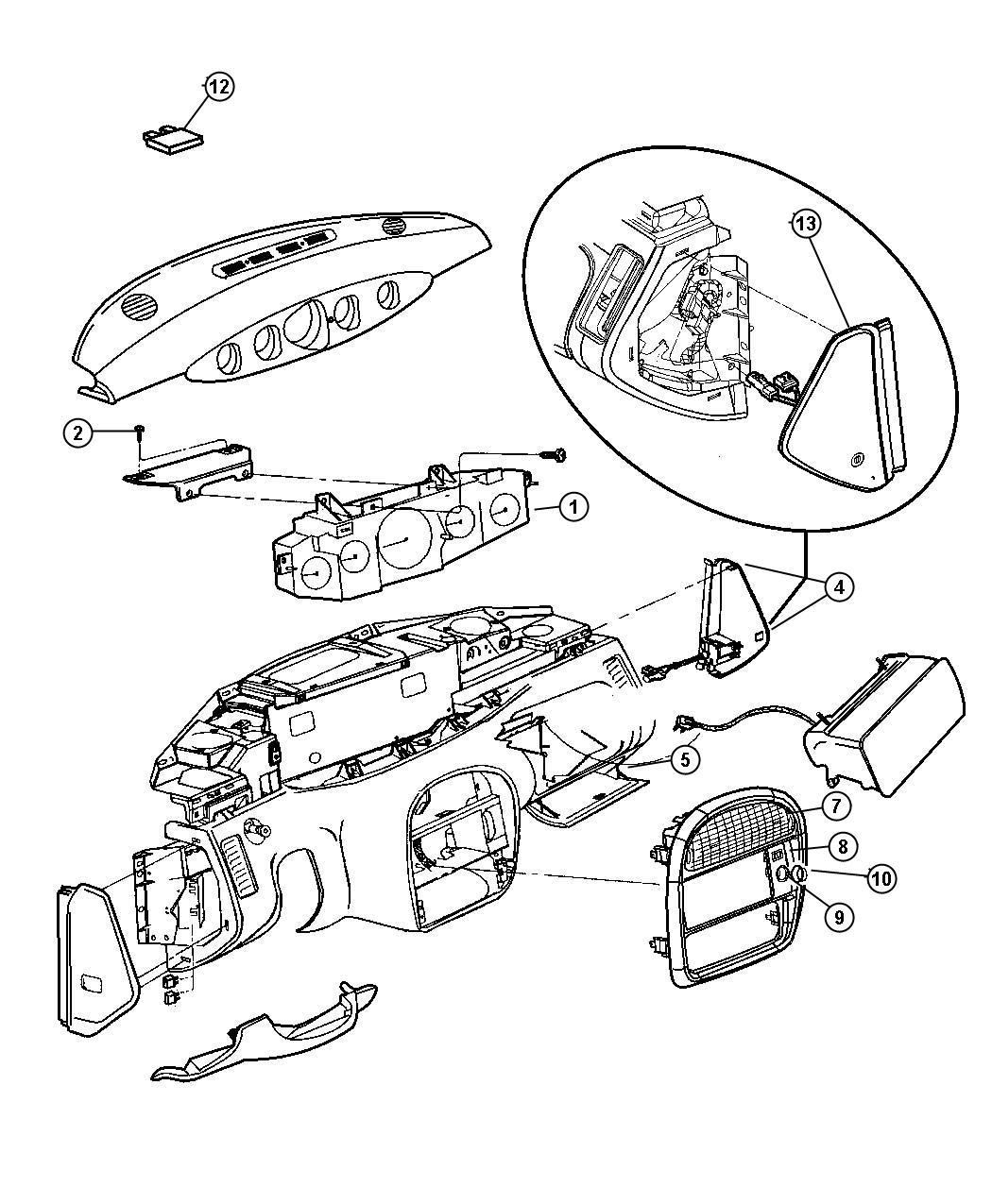 Plymouth Prowler Strap. Glove box. Canada, mexico. Trim