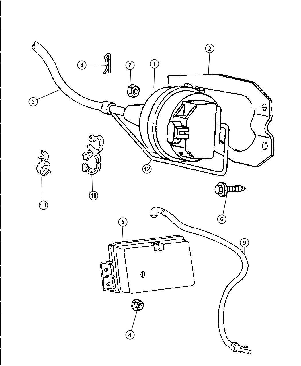 1999 Dodge Ram 2500 Harness. Vacuum speed control. 5.9l