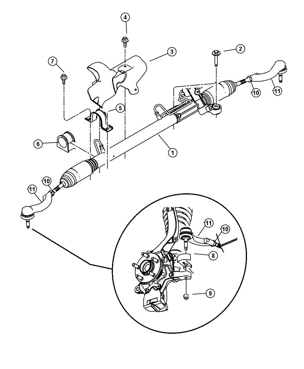 Chrysler Sebring Gear Power Steering Steering