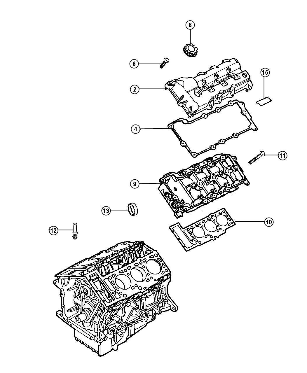 Chrysler Sebring Gasket. Cylinder head cover. Left