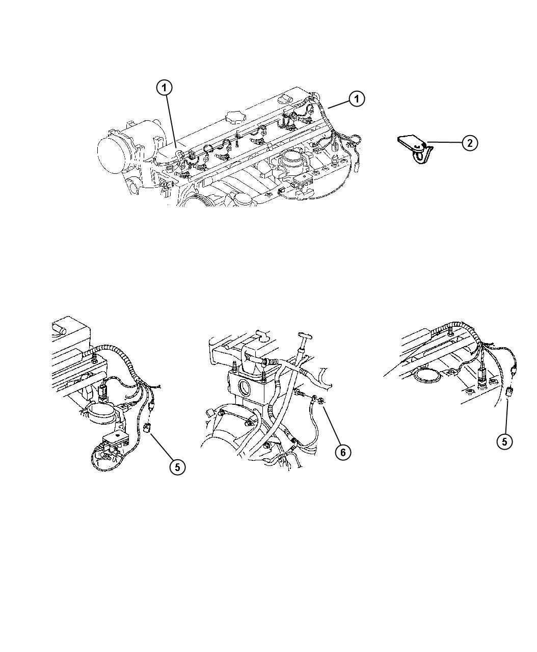 Jeep Wrangler Wiring. Engine. With abs & without off road