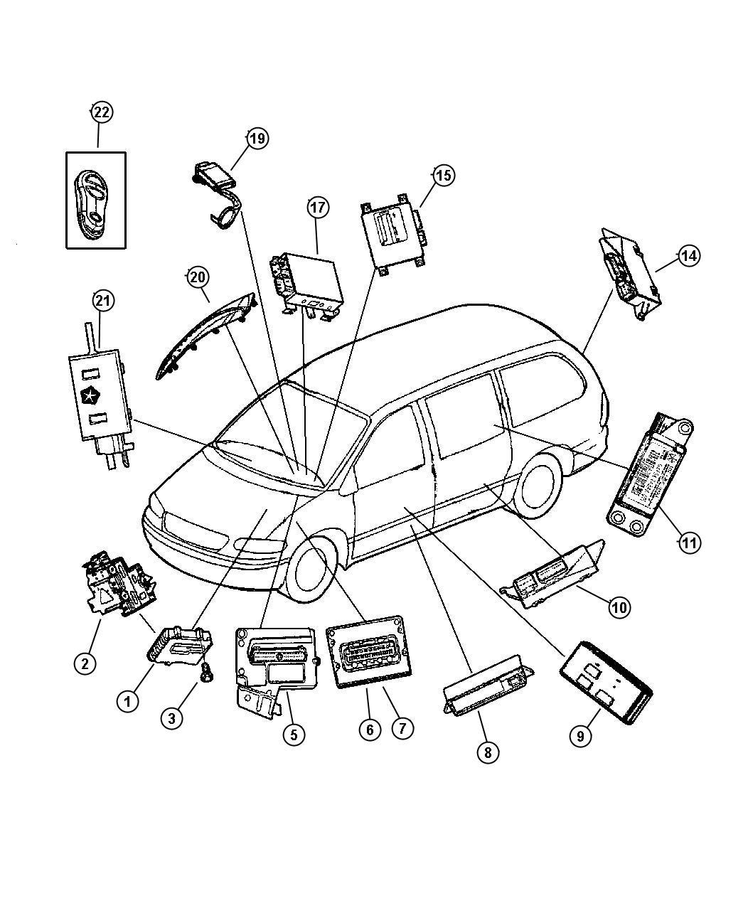 2003 Chrysler Voyager Modules--Electronic.